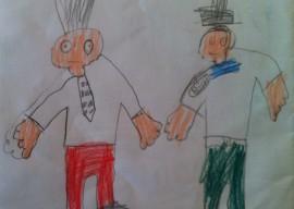 Zeichnung Billy und Benno