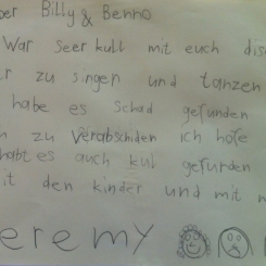 Briefli von Jeremy