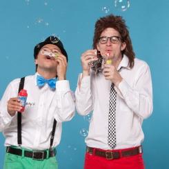 Billy und Benno Seifenblasen